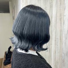 エレガント 韓国ヘア トレンド ボブ ヘアスタイルや髪型の写真・画像