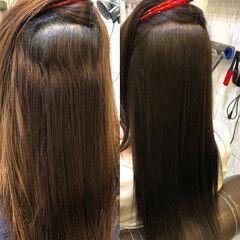 縮毛矯正 ストレート ナチュラル トリートメント ヘアスタイルや髪型の写真・画像