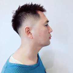 ナチュラル ショート メンズカット スキンフェード ヘアスタイルや髪型の写真・画像