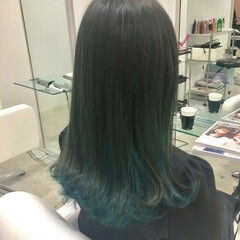 ナチュラル 簡単ヘアアレンジ 女子会 インナーカラー ヘアスタイルや髪型の写真・画像