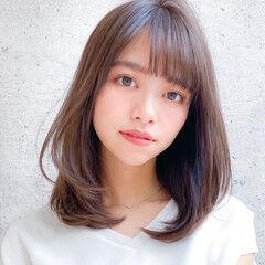 デジタルパーマ コンサバ ミディアム 小顔 ヘアスタイルや髪型の写真・画像