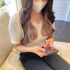ナチュラル ヨシンモリ 暗髪女子 韓国ヘア ヘアスタイルや髪型の写真・画像