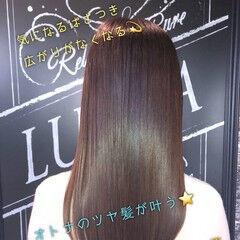 大人女子 ロング うる艶カラー 艶髪 ヘアスタイルや髪型の写真・画像