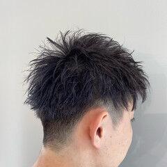 ストリート 刈り上げショート メンズヘア ブリーチ ヘアスタイルや髪型の写真・画像