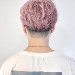 ラベンダー モード パステルカラー ピンク ヘアスタイルや髪型の写真・画像