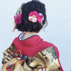 ヘアアレンジ 結婚式 ナチュラル 着物 ヘアスタイルや髪型の写真・画像
