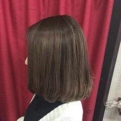 ラベンダーピンク モーブ グラデーションカラー ミディアム ヘアスタイルや髪型の写真・画像