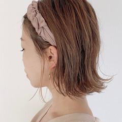 ヘアアレンジ 簡単ヘアアレンジ 切りっぱなしボブ ボブ ヘアスタイルや髪型の写真・画像