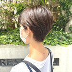 ハンサムショート ショートボブ ショートヘア 透明感カラー