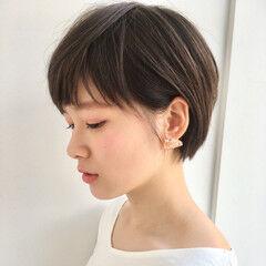 オフィス ナチュラル ショート 田中美保 ヘアスタイルや髪型の写真・画像