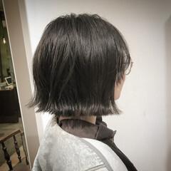 ヘアアレンジ ナチュラル 学校 切りっぱなし ヘアスタイルや髪型の写真・画像