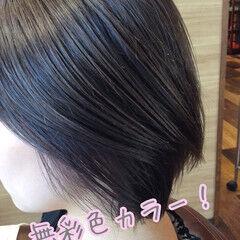 シルバーグレー ヘアカラー デート ストリート ヘアスタイルや髪型の写真・画像