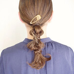 結婚式 簡単ヘアアレンジ ナチュラル 編みおろしヘア