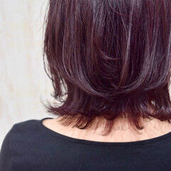 エレガント ボルドーヘア 紫 ヴァイオレット ヘアスタイルや髪型の写真・画像