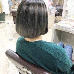 エレガント ブリーチカラー ボブ 大人ハイライト ヘアスタイルや髪型の写真・画像