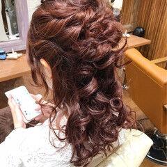 セミロング フォーマル ハーフアップ パーティ ヘアスタイルや髪型の写真・画像