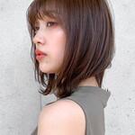 レイヤーカット ナチュラル 鎖骨ミディアム 髪質改善トリートメント