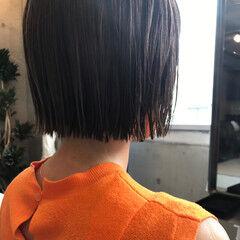 リラックス ボブ デート ショート ヘアスタイルや髪型の写真・画像