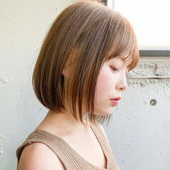 グレージュ ハンサムショート ミニボブ インナーカラー ヘアスタイルや髪型の写真・画像