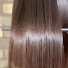 ナチュラル 縮毛矯正 髪質改善 ボブ ヘアスタイルや髪型の写真・画像