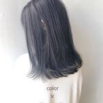 ナチュラル ツヤ髪 黒髪 セミロング