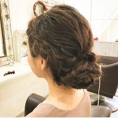 エレガント 上品 外国人風 セミロング ヘアスタイルや髪型の写真・画像