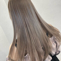 うる艶カラー トリートメント エレガント 縮毛矯正 ヘアスタイルや髪型の写真・画像