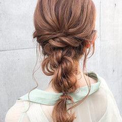 簡単ヘアアレンジ 結婚式ヘアアレンジ エレガント 二次会アレンジ ヘアスタイルや髪型の写真・画像