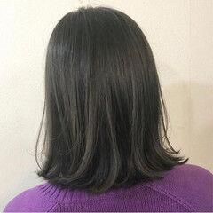 透明感 ナチュラル ボブ カーキアッシュ ヘアスタイルや髪型の写真・画像