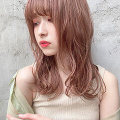 セミロング ナチュラル ブラウンベージュ ナチュラルブラウンカラー ヘアスタイルや髪型の写真・画像