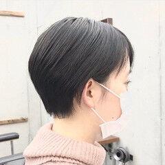 耳かけ ショートヘア ショートボブ ショート ヘアスタイルや髪型の写真・画像