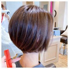 ボブ ミニボブ シンプル ナチュラル ヘアスタイルや髪型の写真・画像