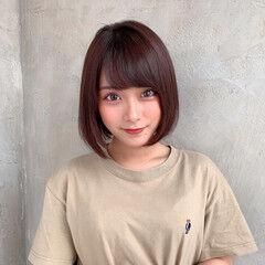 流し前髪 前髪 小顔ヘア ナチュラル ヘアスタイルや髪型の写真・画像