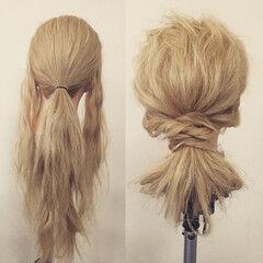 ロング ヘアアレンジ フェミニン ゆるふわ ヘアスタイルや髪型の写真・画像
