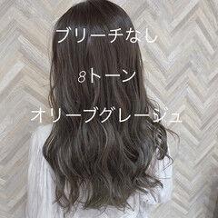 ナチュラル可愛い 大人かわいい オリーブグレージュ 圧倒的透明感 ヘアスタイルや髪型の写真・画像