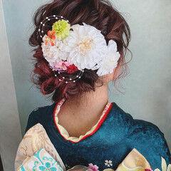 ミディアム ヘアアレンジ 成人式 成人式ヘア ヘアスタイルや髪型の写真・画像