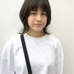 中学生 学生 ウルフカット ナチュラル ヘアスタイルや髪型の写真・画像