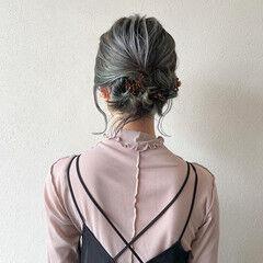 インナーカラー 3Dハイライト 簡単ヘアアレンジ ハイライト ヘアスタイルや髪型の写真・画像
