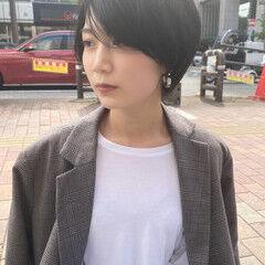 ナチュラル ショートヘア 伸ばしかけ 色気 ヘアスタイルや髪型の写真・画像