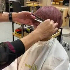 マッシュショート ショート ペールピンク モード ヘアスタイルや髪型の写真・画像