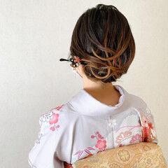 結婚式ヘアアレンジ 結婚式 ボブ エレガント ヘアスタイルや髪型の写真・画像