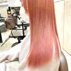 韓国風ヘアー フェミニン ロング 可愛い ヘアスタイルや髪型の写真・画像