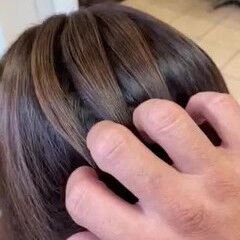 白髪染め ナチュラル 大人カラー 髪質改善カラー ヘアスタイルや髪型の写真・画像