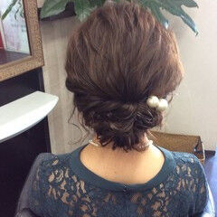 ヘアアレンジ ナチュラル 簡単ヘアアレンジ ミディアム ヘアスタイルや髪型の写真・画像