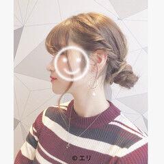 女子会 エレガント ブリーチ 簡単ヘアアレンジ ヘアスタイルや髪型の写真・画像