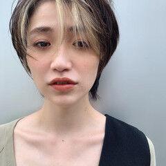 ショート うぶ毛ハイライト ハイライト 阿藤俊也 ヘアスタイルや髪型の写真・画像