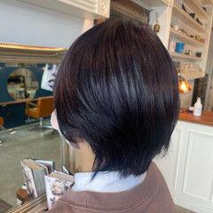 ブリーチ ラベンダー ブリーチカラー ショート ヘアスタイルや髪型の写真・画像