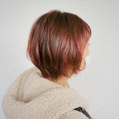 暖色 ショートヘア ショート ショートボブ ヘアスタイルや髪型の写真・画像