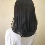 ミディアム エレガント 暗髪 マット