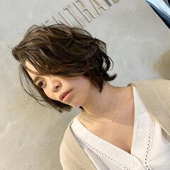 ゆるふわ ママヘア ショート ナチュラル ヘアスタイルや髪型の写真・画像